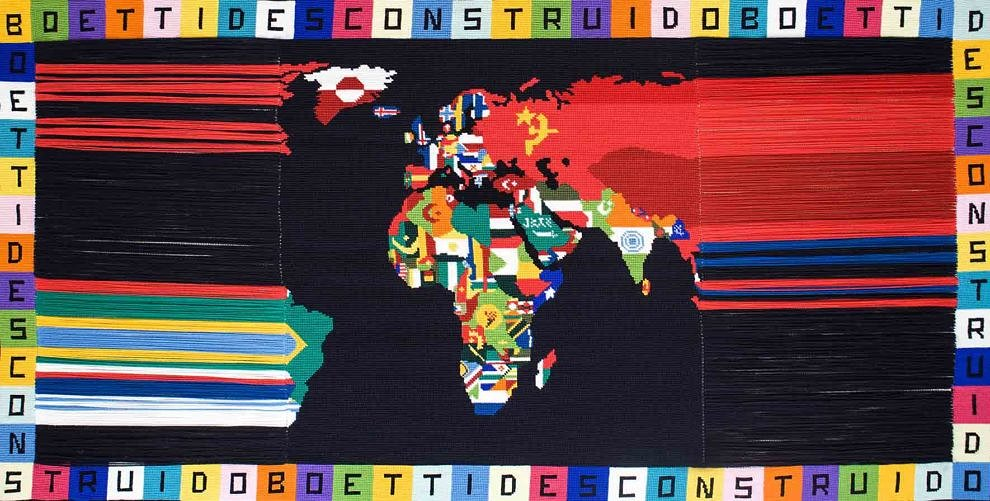 Boetti descontruido II, 2018