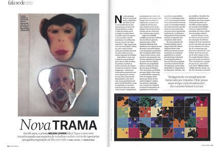 Notícias —Nelson Leirner fala à revista Vogue sobre sua nova exposição na galeria