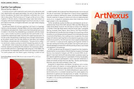 Notícias —Review da exposição O Comércio das Coisas, de Carlito Carvalhosa na Artnexus