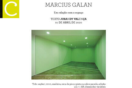 News — Marcius Galan on Continente magazine